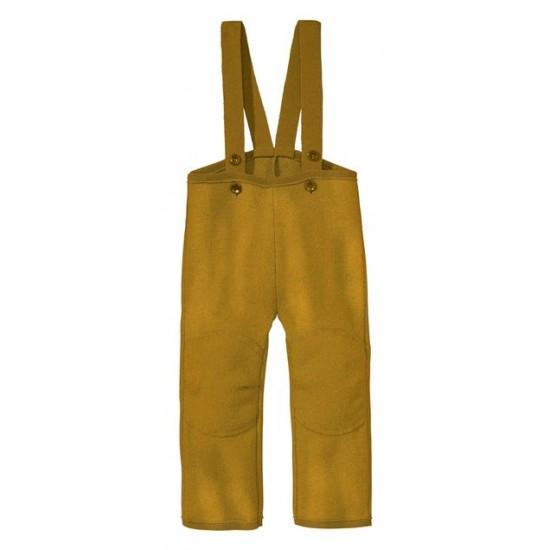 Pantaloni din lana merinos organica - tumble/boiled wool - Disana - Gold