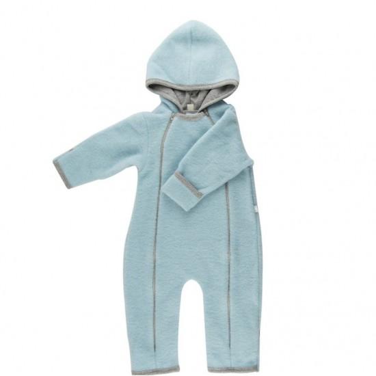 Overall babywearing din lana merinos organica - wool fleece - Iobio - Celestial Blue