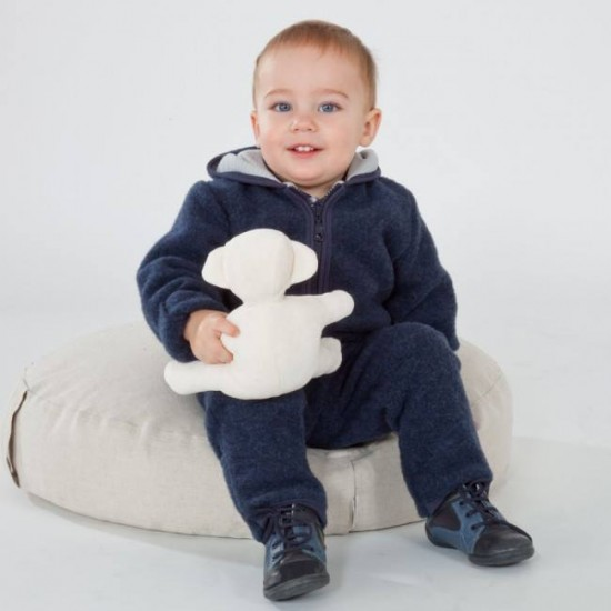 Overall babywearing din lana merinos organica - wool fleece - Iobio - Sapphire