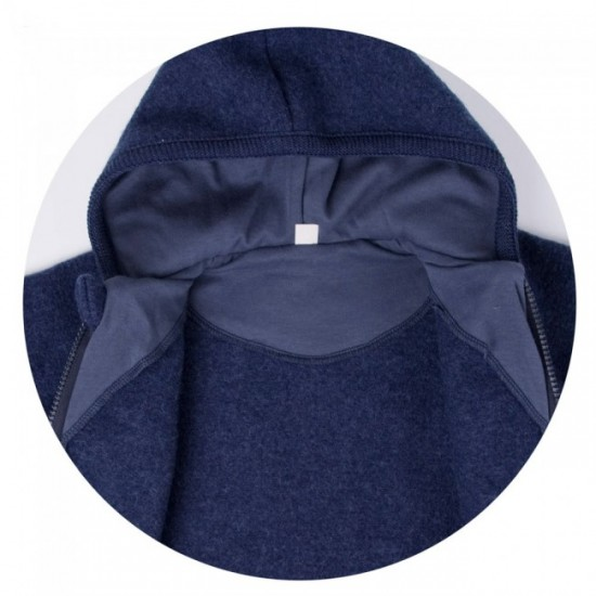 Overall din lana merinos organica - tumble/boiled wool - Iobio - Cassis