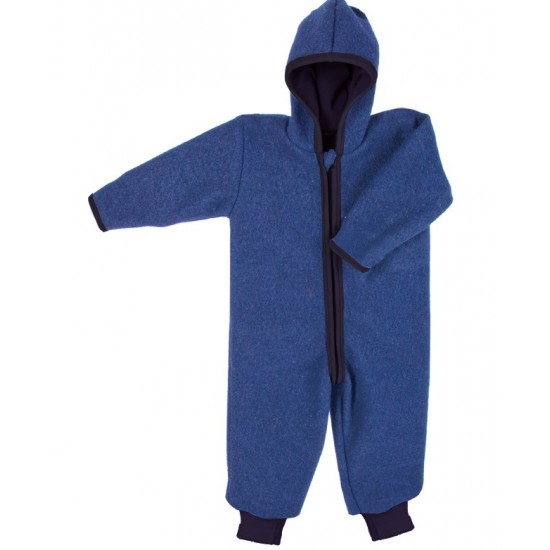 Overall din lana merinos organica - tumble/boiled wool - Iobio - Indigo