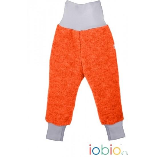 Pantaloni din lana merinos organica - tumble/boiled wool KbT - Iobio - Orange